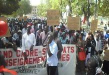 Marche des Syndicats de L'Enseignement
