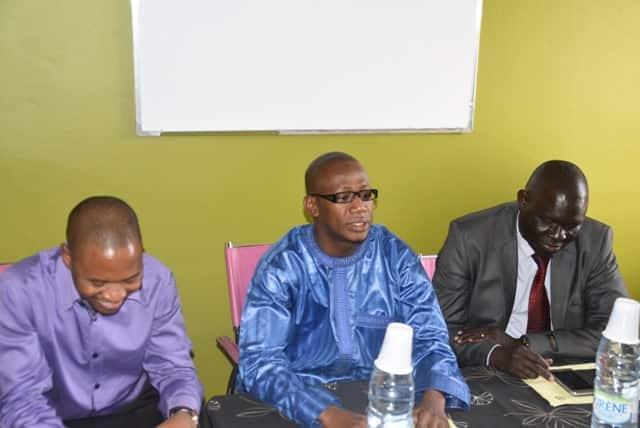 Professeurs Mountaga Diallo, Ibrahima Sylla et Mame Cheikh Ngom